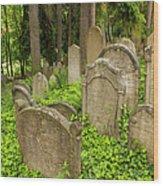 Jewish Town Tombs In The Jewish Cemetery Wood Print
