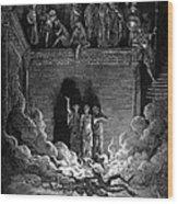 Jews In Fiery Furnace Wood Print