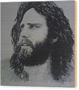 Jim Morrison Last Year Of Life Wood Print