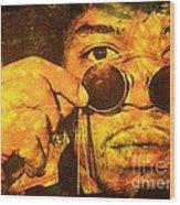 Jimi Wood Print by Ankeeta Bansal
