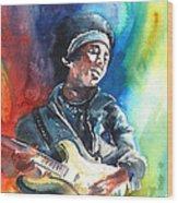 Jimi Hendrix 02 Wood Print