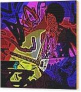 Jimi Hendrix Number 22 Wood Print