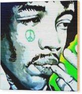 Jimi Hendrix Wood Print by Randall Weidner