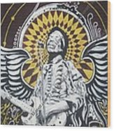 Jimi With Wings Wood Print