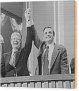 Jimmy Carter And Walter Mondale Wood Print