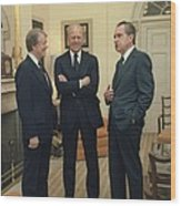 Jimmy Carter Gerald Ford And Richard Wood Print by Everett