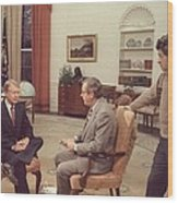 Jimmy Carter Prepares For An Interview Wood Print