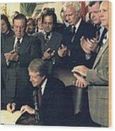 Jimmy Carter Signs Airline Deregulation Wood Print