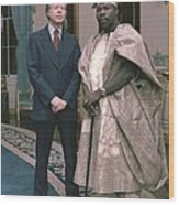 Jimmy Carter With Nigerian Ruler Wood Print