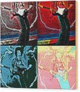 Jimmy Hendrix Pop Wood Print