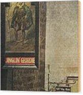 Jinglin' Geordie Wood Print