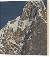 Jirishanca 6090m From Carhuacocha Lake Wood Print