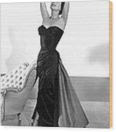 Joan Crawford, 1955 Wood Print by Everett