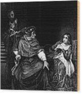 Joan Of Arc In Prison 1431, Engraving Wood Print