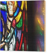 Joan Of Arc Stained Glass Wood Print