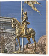 Joan Of Arc Statue New Orleans Wood Print
