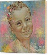 Joana's Portrait Wood Print