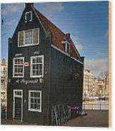 Jodenbreestraat 1. Amsterdam Wood Print