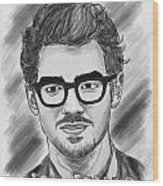 Joe Jonas Drawing Wood Print