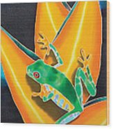 Joe's Treefrog Wood Print