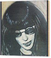 Joey Ramone The Ramones Portrait Wood Print by Kristi L Randall