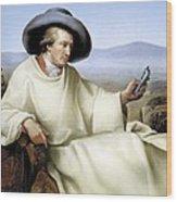 Johann Von Goethe, German Author Wood Print