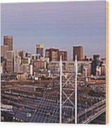 Johannesburg Skyline And Railway Station Wood Print by Jeremy Woodhouse