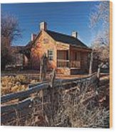 John And Ellen Wood Home Wood Print