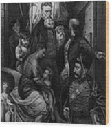 John Brown Meeting Slave Mother Wood Print by Photo Researchers