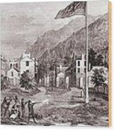 John Browns Harpers Ferry Insurrection Wood Print by Everett