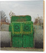 John Deer Made Of Hay Wood Print