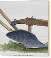 John Deere Plow Wood Print
