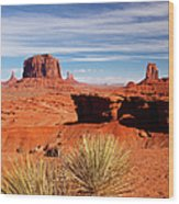 John Ford Point Monument Valley Wood Print