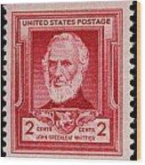 John Greenleaf Whittier Postage Stamp Wood Print
