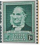 John James Audubon Postage Stamp Wood Print