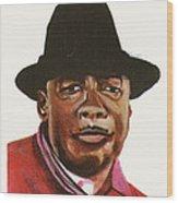 John Lee Hooker Wood Print by Emmanuel Baliyanga