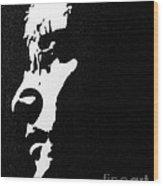 John Lennon Hi Contrast Wood Print