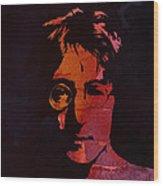 John Lennon Watercolor Wood Print