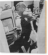 John Lewis Being Ushered Into A Police Wood Print