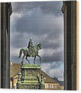 John Of Saxony Monument - Dresden Theatre Square Wood Print