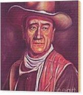 John Wayne Wood Print by Anastasis  Anastasi
