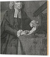 John Winthrop, Us Astronomer Wood Print by Science, Industry & Business Librarynew York Public Library