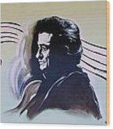 Johnny Cash Wood Print