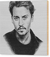 Johnny Depp Wood Print by Andrew Read