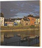 Johns Quay & River Nore, Kilkenny City Wood Print