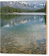 Johnson Lake Rocks Wood Print