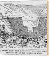 Johnstown Flood: Dam, 1889 Wood Print