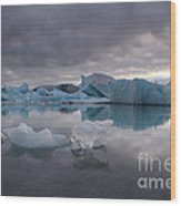 Jokulsarlon Glacier Iceland Wood Print