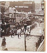 Jollification. Parade Celebrating Wood Print by Everett