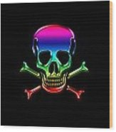 Jolly Roger Rainbow Wood Print